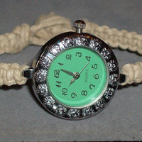 Custom Size Hemp Flower Watch by OriginalAccents on Etsy