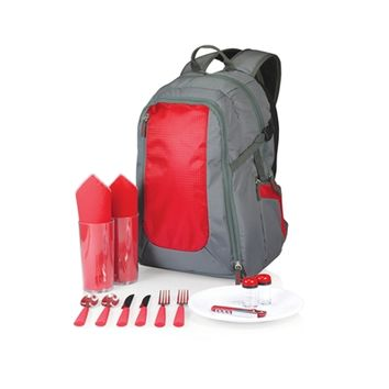 SheilaShrubs.com: Escape Picnic Tote & Backpack - Grey w/ Red 530-30-600-000-0 by Picnic Time : Picnic Baskets & Totes