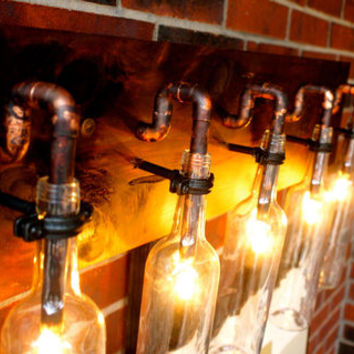 Wine Bottle Light Lamp - Industrial - Sconce - Chandelier