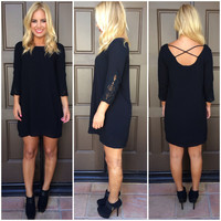 All Across Town Shift Dress - BLACK