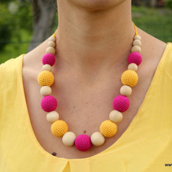 Colourful Gladiolus - Breastfeeding & Teething Necklace