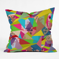 """Colorful Thoughts"" Throw Pillow by Bianca Green 