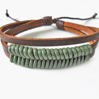 Jeweler leather bracelet woven bracelet by braceletbanglecase