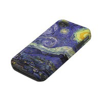Van Gogh Starry Night, Vintage Post Impressionism Iphone 4 Tough Cover from Zazzle.com