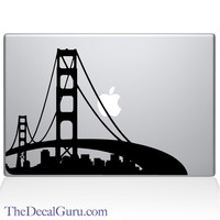 San Francisco City Skyline Macbook Decal | Macbook Decals | The Decal Guru