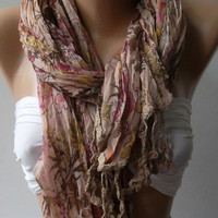 Soft Flowers Elegance Shawl / Scarf by womann on Etsy