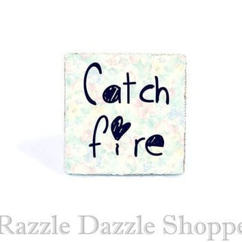 Pastel Floral Catch Fire Adjustable Ring - Kawaii Soft Pastel Goth Jewelry by RazzleDazzleShoppe