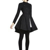 alice + olivia | COHEN FLARE MILITARY COAT