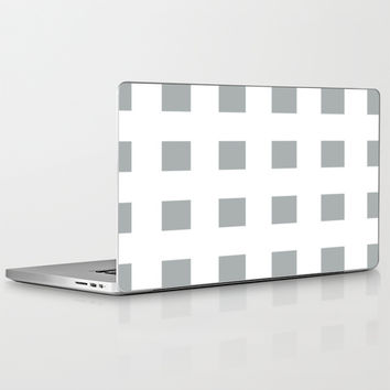 Cross Squares Grey & White Laptop & iPad Skin by BeautifulHomes   Society6