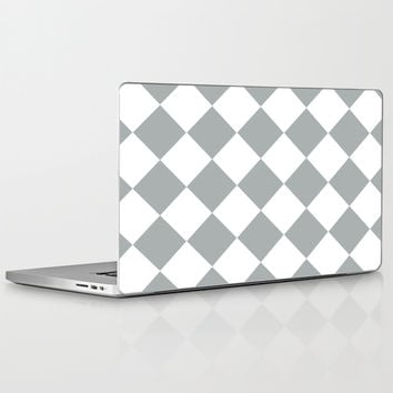Diamond Grey & White Laptop & iPad Skin by BeautifulHomes | Society6