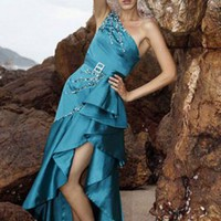E092 Fashion Single Shoulder Evening Gown [EVEND423038] - $217.99 :