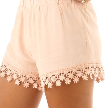 As You Were Shorts: Pale Blush