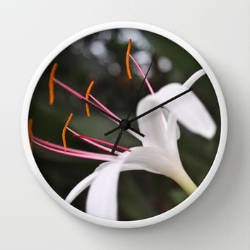 White Lily Wall Clock by Legends of Darkness Photography