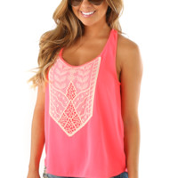 Never Letting Go Top: Neon Pink