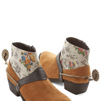 ModCloth Menswear Inspired Spurs of the Moment Bootie
