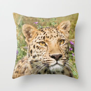 LEOPARD LOVE Throw Pillow by Catspaws | Society6