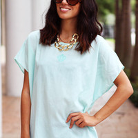 Mint Vintage Top