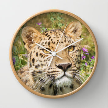 LEOPARD LOVE Wall Clock by Catspaws | Society6