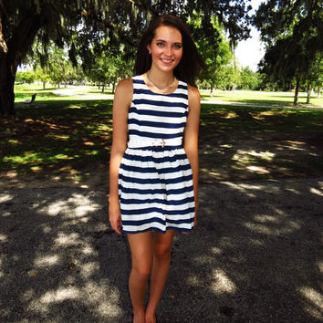 Dresses, Navy Blue Dress, Summer Dress, Mini Dress | Nothing Too Wear