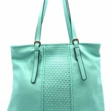 Mint Textured Tote Bag