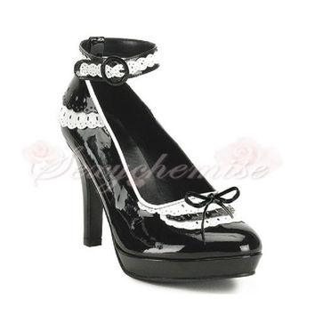 Spring Special Princess Platform Buckle Strap Around Ankle Pumps [TQL120321106] - £47.59 :