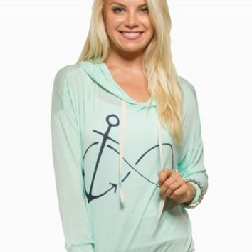 SPOILED ANCHOR INFINITY GRAPHIC TEE