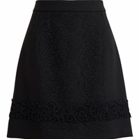 DOLCE & GABBANA | Wool and Lace Skirt | Browns fashion & designer clothes & clothing