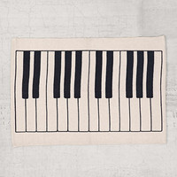 Assembly Home Piano Key Rug- Black & White 2X3