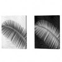 Menaul Fine Art Black and White Palm Frond Limited Edition Canvas Set - Scott J. Menaul - FL1-002 / - Decor