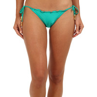 Vix Solid Green Ripple Tie Brazilian Bottom