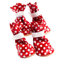 Top Paw Red Dot Rain Boots