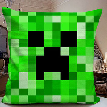 Minecraft Pattern Design 18x18 Decorative Pilllow Cover 18x18 inches for One Side and Two Side