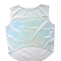 Silver Holographic Crop Top (LAST ONE)