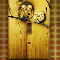 Save the Owls Switchplate cover by TurnMeOnArt on Etsy