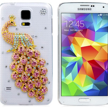 Crystal Peacock Plastic Case for Samsung Galaxy S5