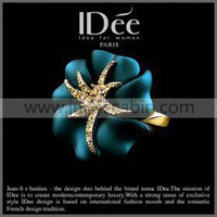 IDee Royal Blue Floral Ring - Rings