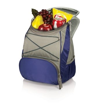 SheilaShrubs.com: PTX Cooler Backpack - Navy/Grey 633-00-138-000-0 by Picnic Time : Coolers