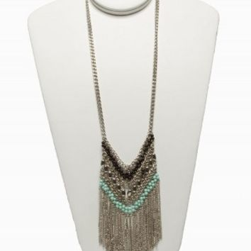 FRINGE BIB NECKLACE