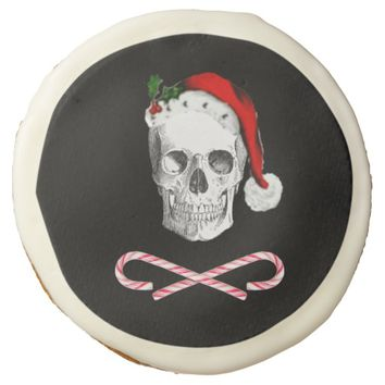 Pirate Santa Skull Jolly Christmas Cookie