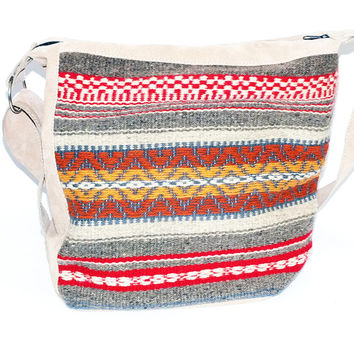 Handmade ladies shoulder bag and backpack in one