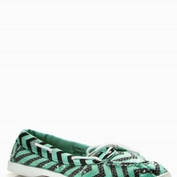 CHEVRON SEQUIN BOAT SHOES