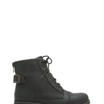 Compare 'N Contrast Zipper Lace-Up Boots