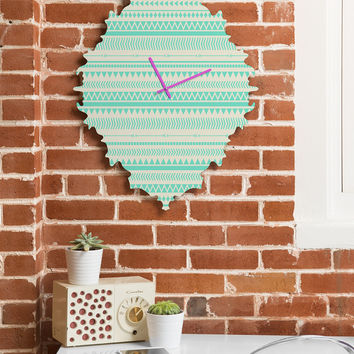 Allyson Johnson Mint Tribal Baroque Clock