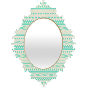 Allyson Johnson Mint Tribal Baroque Mirror