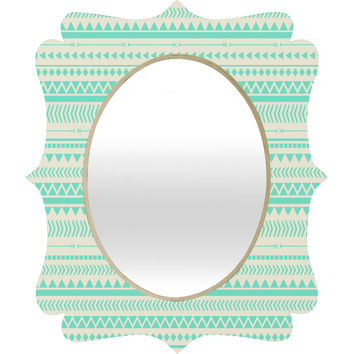Allyson Johnson Mint Tribal Quatrefoil Mirror