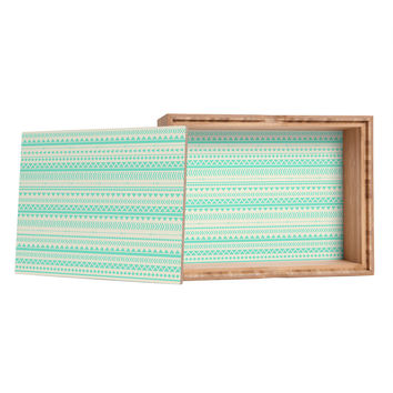 Allyson Johnson Mint Tribal Storage Box