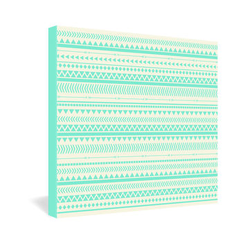 Allyson Johnson Mint Tribal Gallery Wrapped Canvas
