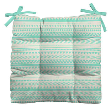 Allyson Johnson Mint Tribal Outdoor Seat Cushion