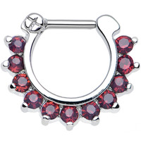 "16 Gauge 1/4"" Passionate Purple Gem Septum Clicker 