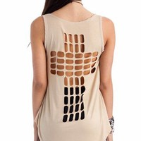 cut-out cross tank $17.30 in CORAL TAUPE - Sleeveless | GoJane.com
